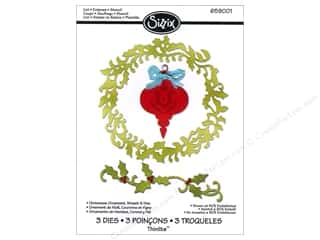 Sizzix Christmas: Sizzix Thinlits Die Set 3PK Christmas Ornament Wreath & Vine by Jen Long