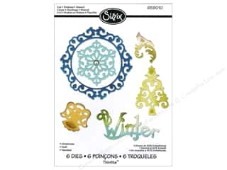 Sizzix Thinlits Die Set 6PK Christmas