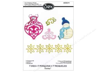 Christmas Sizzix Die: Sizzix Thinlits Die Set 7PK Christmas #2 by Rachael Bright