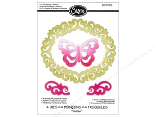 Insects Sizzix Die: Sizzix Thinlits Die Set 4PK Butterfly Flourishes & Frame by Rachael Bright