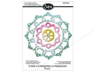 Framing $3 - $4: Sizzix Thinlits die Set 3PK Frame Layers & Flower by Rachael Bright
