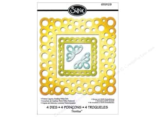 Framing $4 - $5: Sizzix Thinlits Die Set 4PK Frame Layers Scallop Polka Dot by Rachael Bright