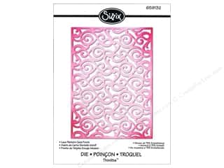 Laces $4 - $6: Sizzix Thinlits Die Lace Pattern Card Front by Rachael Bright