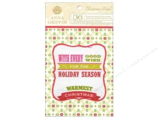 theme stickers  holidays: Anna Griffin Stickers Christmas Kitsch Vellum Quotes