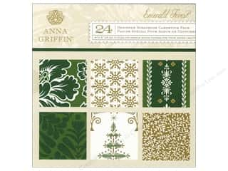 Anna Griffin 6 x 6 in. Cardstock Pad Emerald Forest