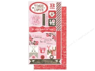 Love & Romance DieCuts Sticker: Authentique Die Cuts Smitten Components (3 sets)