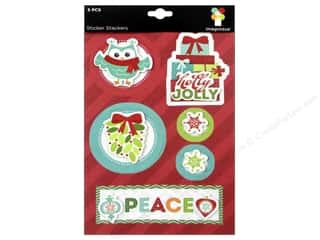 Christmas Burgundy: Imaginisce Stickers Colors Of Christmas Stacker Peace