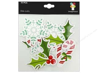 Imaginisce Paper Die Cuts / Paper Shapes: Imaginisce Die Cut Colors Of Christmas Icons
