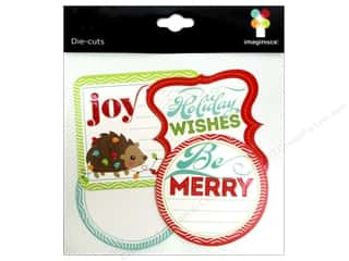 Imaginisce Paper Die Cuts / Paper Shapes: Imaginisce Die Cut Colors Of Christmas Journaling