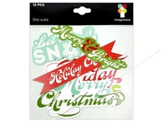 Imaginisce Paper Die Cuts / Paper Shapes: Imaginisce Die Cut Colors Of Christmas Phrases