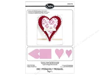 Dies Valentine's Day: Sizzix Bigz L Die Card Mini Heart by Rachael Bright