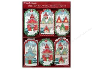 Punch Studio Gift Tags Winterland Dimen 18pc