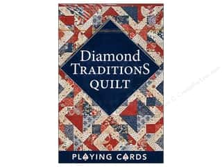 "Cards & Envelopes  2.5"" x 3.5"": C&T Playing Cards Diamond Traditions Quilt"