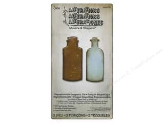 Magnets $2 - $4: Sizzix Movers & Shapers Magnetic Die Set 2PK Mini Apothecary Bottles by Tim Holtz