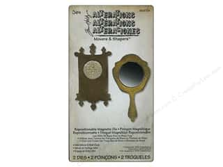Magnets $2 - $3: Sizzix Movers & Shapers Magnetic Die Set 2PK Mini Mirror & Wall Clock by Tim Holtz