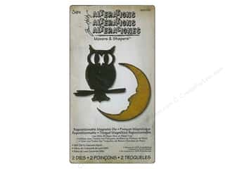 Sizzix Movers & Shapers Magnetic Die Set 2PK Mini Owl & Crescent Moon