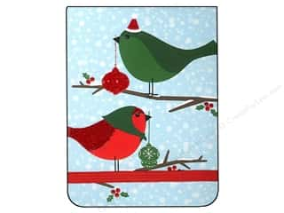 Punch Studio Note Pad Pocket Flip Holiday Birds (2 piece)
