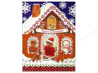 Punch Studio Note Pad Gingerbread Houses Window Pocket