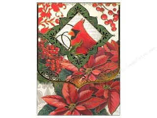 Note Cards Christmas: Punch Studio Note Pad Festive Cardinal Window Pocket (2 pieces)
