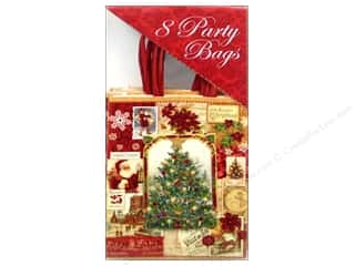 Party Supplies Green: Punch Studio Party Bags Christmas Victoriana Box 8pc