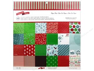 American Crafts 12 x 12 in. Paper Pad Peppermint Express