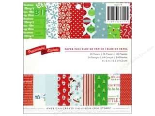 American Crafts 6 x 6 in. Paper Pad Peppermint Express