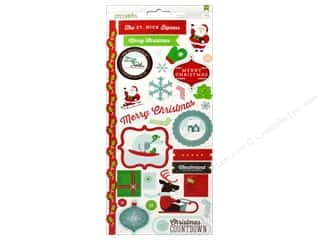 American Crafts Stickers Peppermint Express Mistlemint