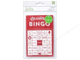 Holiday Sale Printed Cardstock: American Crafts Bingo Cards Peppermint Express Wintermint