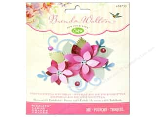 Christmas Hot: Sizzix Sizzlits Die Poinsettia Swirls by Brenda Walton