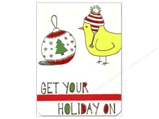 Note Cards Christmas: Punch Studio Note Pad Pocket Flip Get Your Holiday On (2 pieces)