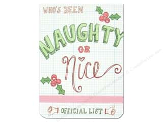 Punch Studio Note Pad Pocket Flip Naughty Or Nice (2 piece)