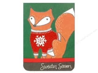 Punch Studio Note Pad Pocket Flip Foxy Christmas