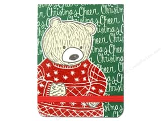 Note Cards Christmas: Punch Studio Note Pad Pocket Flip Sweater Bear (2 pieces)