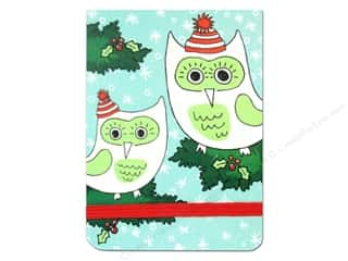 Punch Studio Note Pad Pocket Flip Santa Hat Owls (2 piece)