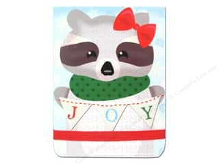 Punch Studio Note Pad Pocket Flip Joyful Raccoon (2 piece)