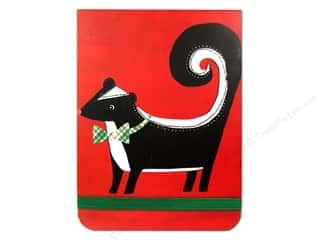 Note Cards Christmas: Punch Studio Note Pad Pocket Flip Holiday Skunk (2 pieces)