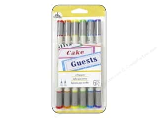 Pigments EK Pens: EK Pen Writing Dual Tip Rainbow 6pc