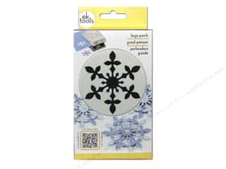 Winter inches: EK Paper Shapers Punch Large Vintage Snowflake