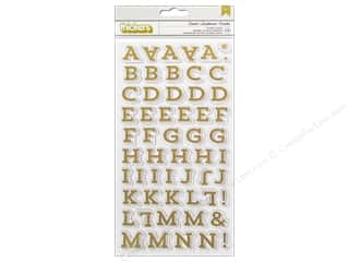 clearance American Crafts Thickers Stickers: Thickers Alphabet Stickers Twinkle Gold