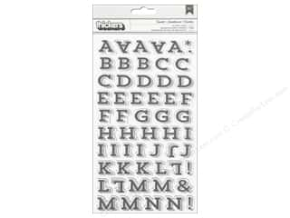 Thickers Alphabet Stickers Twinkle Charcoal