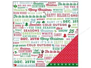 American Crafts 12 x 12 in. Paper Jolly Greetings (25 piece)