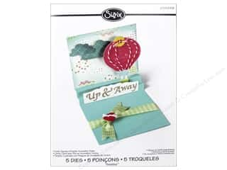 Transportation Clearance Crafts: Sizzix Thinlits Die Set 5PK Card Square with Center Accordion Folds by Rachael Bright