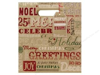 Punch Studio Gift Bag Christmas Kraft Medium (2 piece)