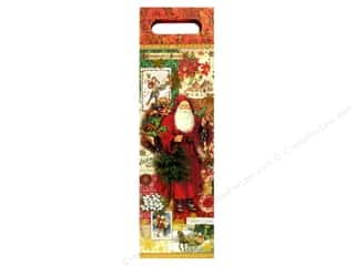 Punch Studio Gift Bag Christmas Victoriana Wine (2 piece)