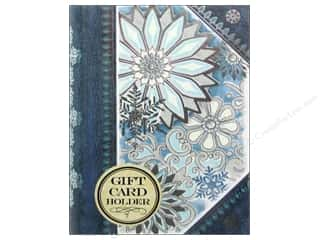 Punch Studio Gifts: Punch Studio Gift Card Holder Silver Snowflakes Book (2 pieces)