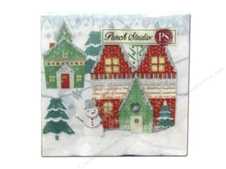 Punch Studio Napkins Winterland Holiday Bev 20pc