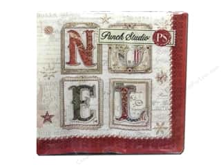 Punch Studio Napkins Noel Holiday Bev 20pc