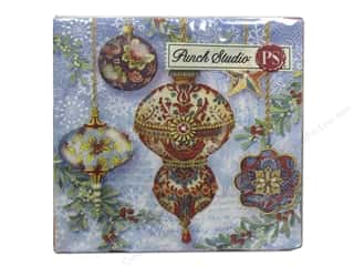 Generations Christmas: Punch Studio Napkins Elegant Ornaments Holiday Beverage 20pc