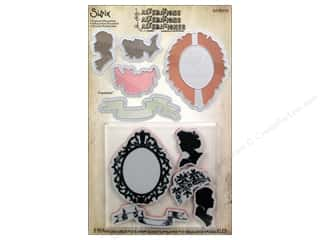 Dies Valentine's Day: Sizzix Framelits Die Set 5 PK with Stamps Framed Silhouettes by Tim Holtz
