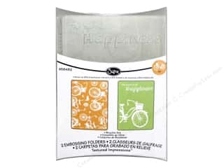 Captions Embossing Aids: Sizzix Embossing Folders Rachael Bright Textured Impressions Bicycles Set